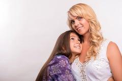 Hija joven de la madre y del adolescente Foto de archivo