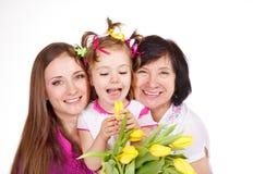 Hija, madre y abuela Fotos de archivo libres de regalías