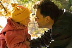 Hija y el padre Fotografía de archivo libre de regalías