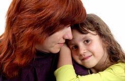 Hija y madre Fotos de archivo libres de regalías