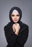 hijab的回教妇女 免版税库存照片