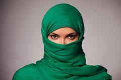 hijab的少妇 图库摄影