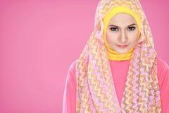Портрет hijab красивой женщины нося стоковое изображение rf