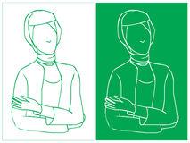 Hijab Career Woman Royalty Free Stock Photos