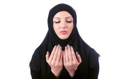 Hijab d'uso della giovane donna musulmana Fotografia Stock Libera da Diritti