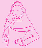 Hijab for Fashion. Portraits of a muslim in hijab, illustration Stock Images