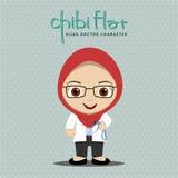 Hijab-Frauen-Doktor stock abbildung