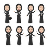 Hijab Muslim Female Character Business Woman Royalty Free Stock Photos