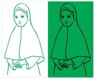 Hijab muzułmanin Fotografia Royalty Free