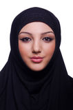 Hijab que lleva musulmán de la mujer joven Foto de archivo libre de regalías