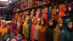 Hijab Shop royalty free stock images