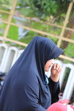 Happy arab muslim woman wearing hijab Royalty Free Stock Photography