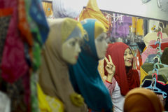 Hijab sklep Zdjęcie Stock