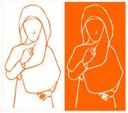 Hijab stylista Obraz Royalty Free