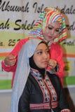 Hijab tutorial Royalty Free Stock Photos
