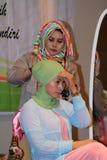 Hijab tutorial Royalty Free Stock Photography