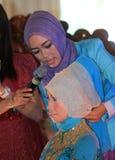 Hijab tutorial Stock Images