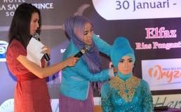 Hijab tutorial Stock Photos