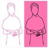 Hijab użytkownik Obrazy Royalty Free