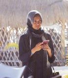 ISLA MUJERES-QUINTANA ROO-MEXICO-JULY-2018: Muslim woman on vacation at the beach. stock photos
