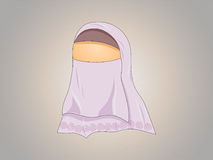 Hijabed girl Stock Image
