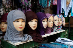 Hijabs for Sale in Jerusalem Royalty Free Stock Photography