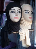 Hijabs for sale in Jordan stock photo