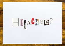 Hijacked question - note on desk Royalty Free Stock Photo