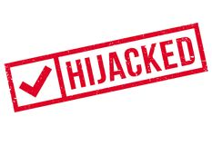 Hijacked rubber stamp Stock Image
