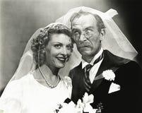 Hijinks de jour du mariage photo libre de droits