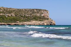 Hijo Bou, Menorca, España de Cala Imagen de archivo
