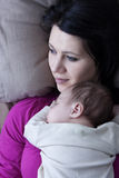 Hijo de la madre y del bebé Fotos de archivo libres de regalías