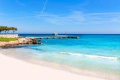 Hijo Servera Mallorca de la playa de Majorca Cala Millor Imágenes de archivo libres de regalías