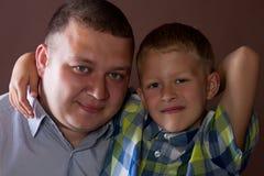 Hijo y padre Imagenes de archivo