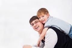 Hijo y papá Imágenes de archivo libres de regalías