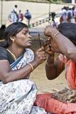 Hijras/transsessuali durante il Mahabharata Festiva Immagine Stock