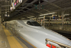 Hikari Superexpress,京都,日本 免版税库存照片