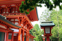 Hikawa Shrine of Gate and trees in Omiya, Saitama Prefecture Royalty Free Stock Photos