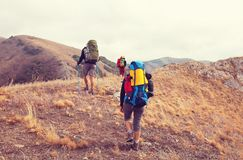 In hike. In a hike Royalty Free Stock Photography