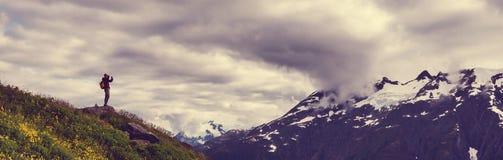 Hike in Alaska Royalty Free Stock Image