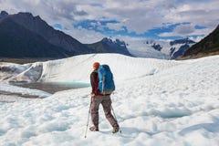 Hike in Alaska Stock Image