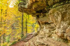 Free Hike Along Mullerthal Trail In Luxembourg Royalty Free Stock Image - 112810856