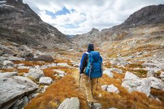 Hike in autumn season royalty free stock images