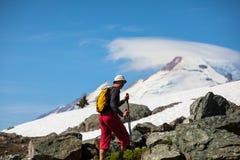 Hike in Baker Area. Hiking in Mt.Baker area, Washington Stock Photo