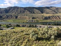 Hike in the beautiful Kamloops mountains. Hike in the Scenic Kamloops mountains Royalty Free Stock Images