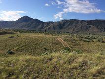 Hike in the beautiful Kamloops mountains. Hike in the Scenic Kamloops mountains Stock Photography