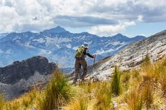 Hike in Bolivia Royalty Free Stock Image