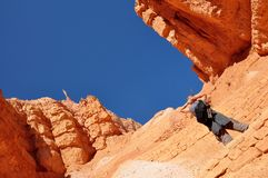 Hike in the Bryce Canyon Stock Image