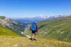Hike in Caucasus Stock Image