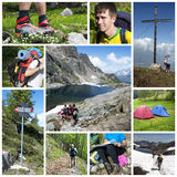Hike collage royalty free stock images
